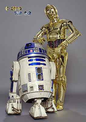 Unofficial Star Wars C-3PO & R2-D2 (16) *Glossy* A4 print Poster - Rogue One