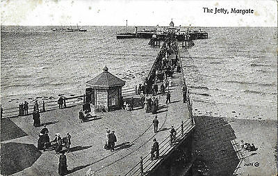 RP Card A STEAMER AT MARGATE JETTY - Valentine's Card - Unposted