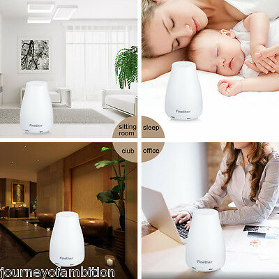 Essential Oil LED Aroma Diffuser Ultrasonic Humidifier Air Mist Aromatherapy UK