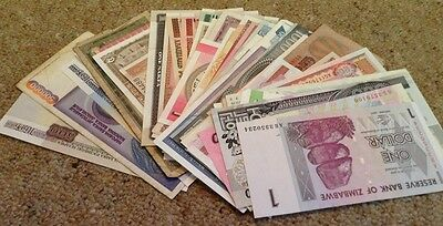 Banknote Lot. 55 Pcs. World Banknotes. All Different.