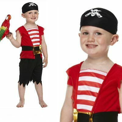 Toddler Age 2-3 Buccaneer Pirate Boys Book Week Fancy Dress Costume Party Outfit