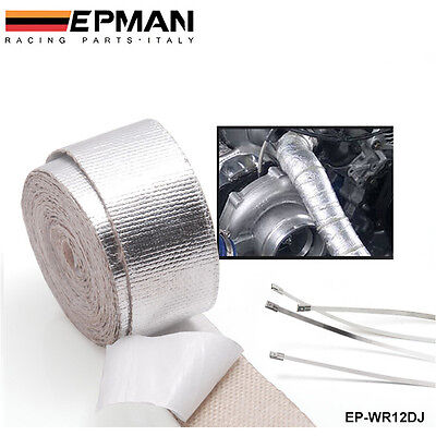 EPMAN High Quality Heat intake Reflective insulation wrap tape induction Silver