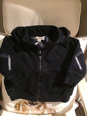 Baby boy's Burberry top, Navy, Age 12 months