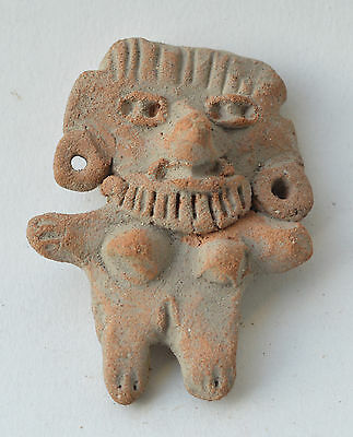 Michoacan figure terracotta pottery pre columbian Mexico.