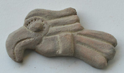 Teotihuacan bird plaque terracotta pottery pre columbian Mexico.