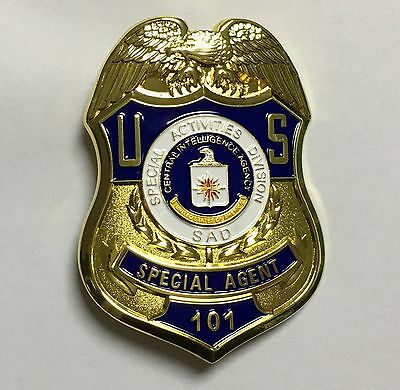 U.s. Special Activities Division Special Agent 101 Props Collection Badge-1976