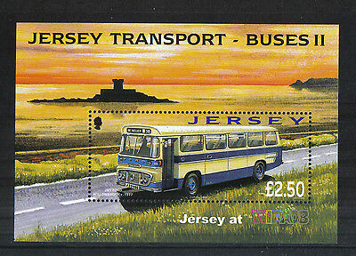 Jersey 2008 Historic Buses ss--Attractive Transportation Topical (1317a) MNH