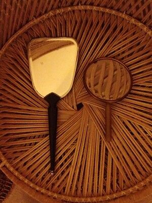 2 Very Aged Vintage Hand Mirrors - Aug54