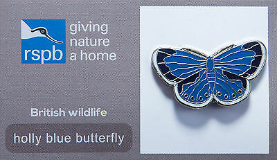 RSPB Pin Badge | Holly Blue Butterfly | GNaH backing card [00282]