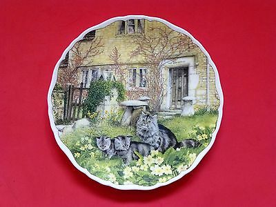 Royal Albert Bone China Plate - 1993  'First Outing' from Cats and Cottages