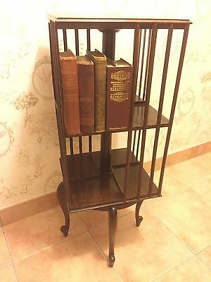 Antique Edwardian Revolving Bookcase