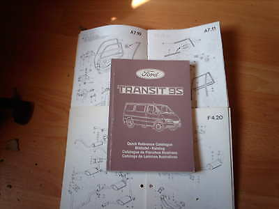 Ford Parts Catalogue Transit 1995 on Van Bus Chassis Cab