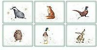 Pimpernel Wrendale Designs Placemats Set of 6 Table Mat Country Animal