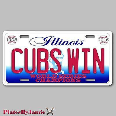 World Series Champion Chicago Cubs 1908 2016 Aluminum License Plate Tag New