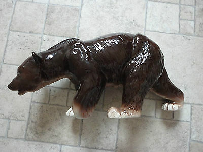 Very Rare Melba Ware Large Brown Bear Lovely Condition