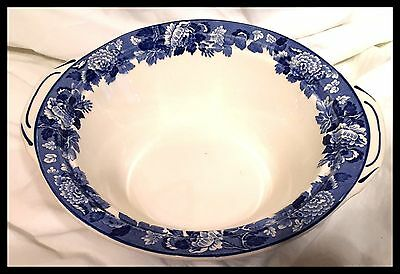 Enoch Woods English Scenes Woods Ware Dish - Blue & White