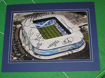 Cardiff City Mounted Stadium Photograph Signed x 15 2016/17 1st Team Squad