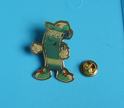 rare male UCI advertising character from cinema stud pin badge charity