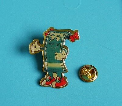 rare female UCI advertising character from cinema stud pin badge charity