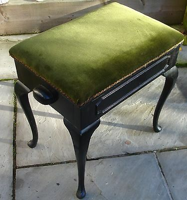Old Piano Stool 1940's, Vintage Antique Piano Stool, Old Used Furniture