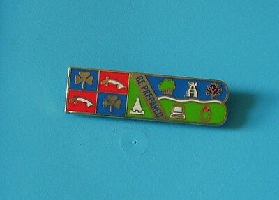 rare be prepared scouts enamel broach type pin badge charity