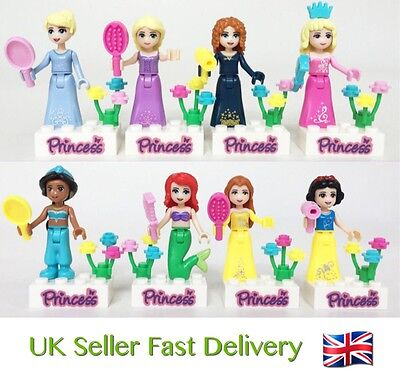 8pcs Princess Minifigures For Girls Fits Lego Marvel Avengers Mini Figures UK