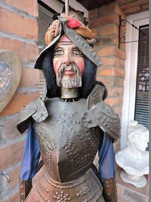 Antique Sicilian Marionette Puppet Doll Knight in Armor 70cm or 27 inches ½