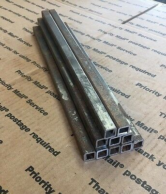 "1/2"" X 12"" Long 1/16"" Steel Square Tube Arts Crafts Welding Bracing 10 Pcs"