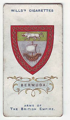 Wills's Card - Arms of The British Empire c1910 - No 5 - Bermuda - Used