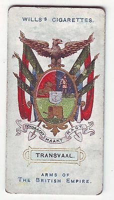 Wills's Card - Arms of The British Empire c1910 - No  6 - Transvaal - Used