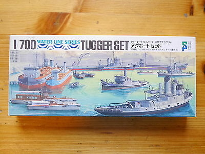 WWII Schlepper Tugger Set tug boat harbour, Tamiya Water Line Series 1:700 boxed