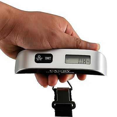 Camry 110 Lbs Luggage Scale with Temperature Sensor and Tare Function Silver