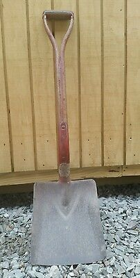 Antique Vintage Curved Wood Handle Coal Shovel Rail Road or Other Coal Fired