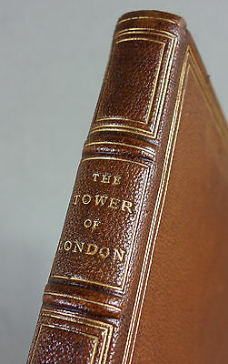 1906 - HANDEINBAND - Tower of London - GANZLEDER England Bibliophilie Leder RAR