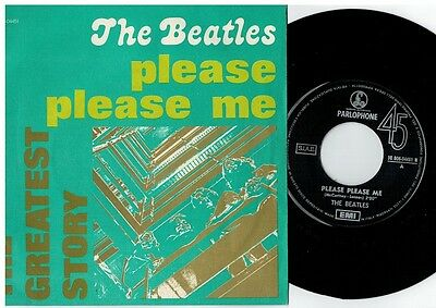 THE BEATLES Please please me 45rpm 7' PS 1976 MINT- The Greatest Story RE