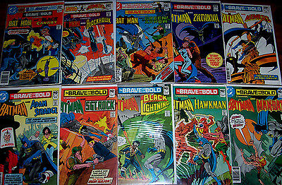 BRAVE & THE BOLD #161-170 Batman! 10 Classic Bronze-Age Issues In a Row! DC 1980