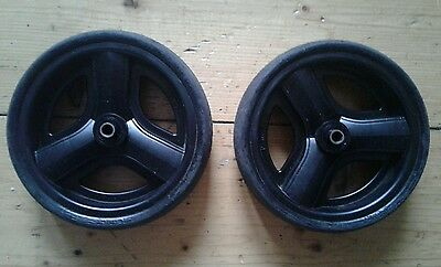 icandy peach 1,2 front wheels without bolts- sprayed black