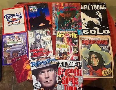 Vintage Rare Neil Young Crazy Horse Lot 12 Concert Programs Magazines Music Book