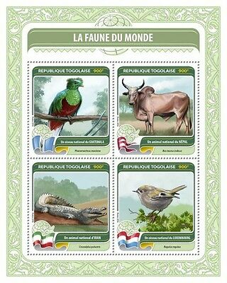 Z08 IMPERFORATED TG16412a TOGO 2016 Fauna of the World MNH