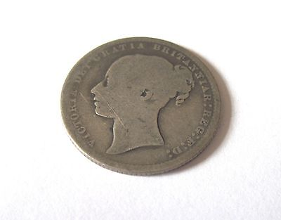 1871 One Shilling coin Queen Victoria Bun - Die Number 40