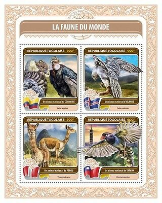 Z08 TG16403a TOGO 2016 Fauna of the World MNH