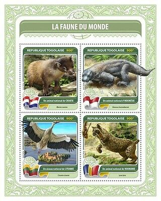 Z08 TG16404a TOGO 2016 Fauna of the World MNH