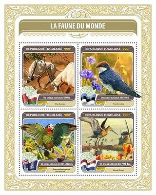 Z08 TG16406a TOGO 2016 Fauna of the World MNH