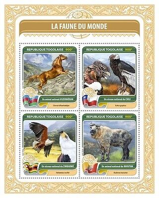 Z08 TG16408a TOGO 2016 Fauna of the World MNH