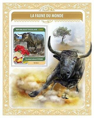 Z08 TG16408b TOGO 2016 National animal of Spain MNH