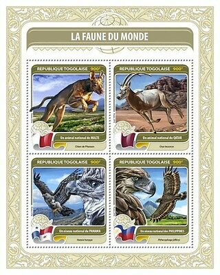 Z08 TG16410a TOGO 2016 Fauna of the World MNH