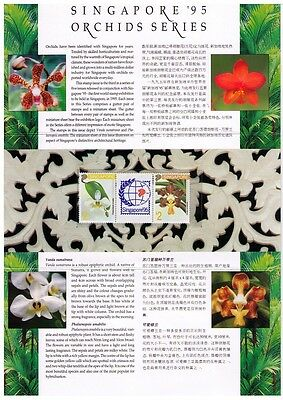 SINGAPORE ~ 1993 Orchids, Singapore '95 3rd series sg#725a Presentation Pack MNH