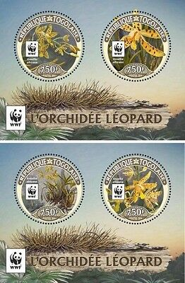 Z08 TG16423d TOGO 2016 WWF – Orchids (set of 2 sheet) MNH