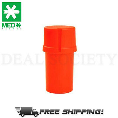 MedTainer Storage Container w/ Built-In Grinder - Solid Red