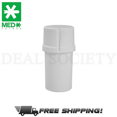 MedTainer Storage Container w/ Built-In Grinder - Solid White